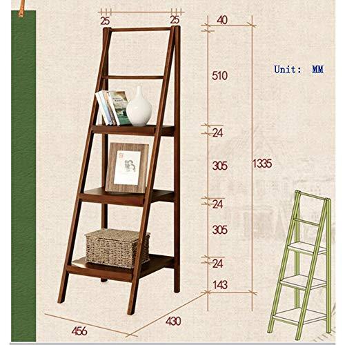 Planken DUO rekken plank, massief hout ladder badkamer opslag rek bloem standaard slaapkamer boekenkast (drie kleuren optioneel) rekken