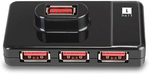 iBall Piano 430 4 Port USB Hub (Black)