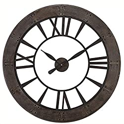 Uttermost Ronan Wall Clock in Dark Rustic Bronze