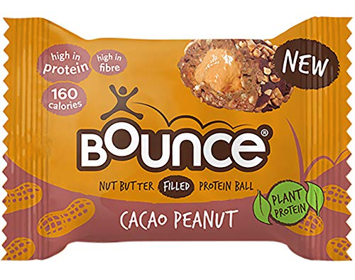 Bounce Nut Butter Filled Protein Balls 35g Pack of 12 (Peanut Cacao)