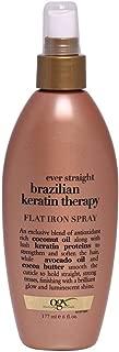 Ogx Ever Straight Brazilian Keratin Therapy Flat Iron Spray, 6oz