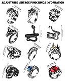 Zoom IMG-1 12 pezzi anelli punk vintage