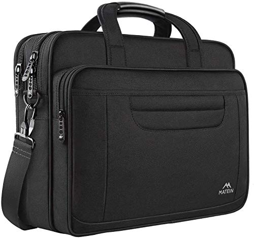 MATEIN 17 inch Laptop Bag, Water-Repellent Computer Briefcase Fits Up to 16 inch Laptop, Gaming...