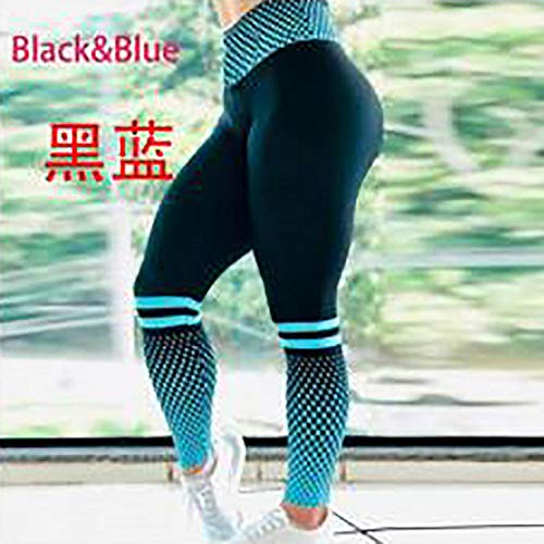 Blouse met V-hals,Geruite ademende yogabroek, hardlooplegging - zwart blue_XL,Dames Sexy casual herfst losse tops met lange mouwen