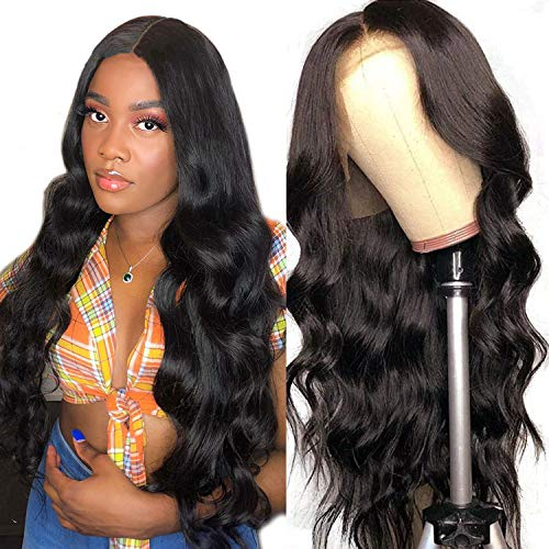 360 Human Hair Body Wave Wig Pre Plucked with Baby Hair Brazilian Full Lace Human Hair Wigs for Women Unprocessed Virgin Human Hair Wigs 150% Density 18 Inches