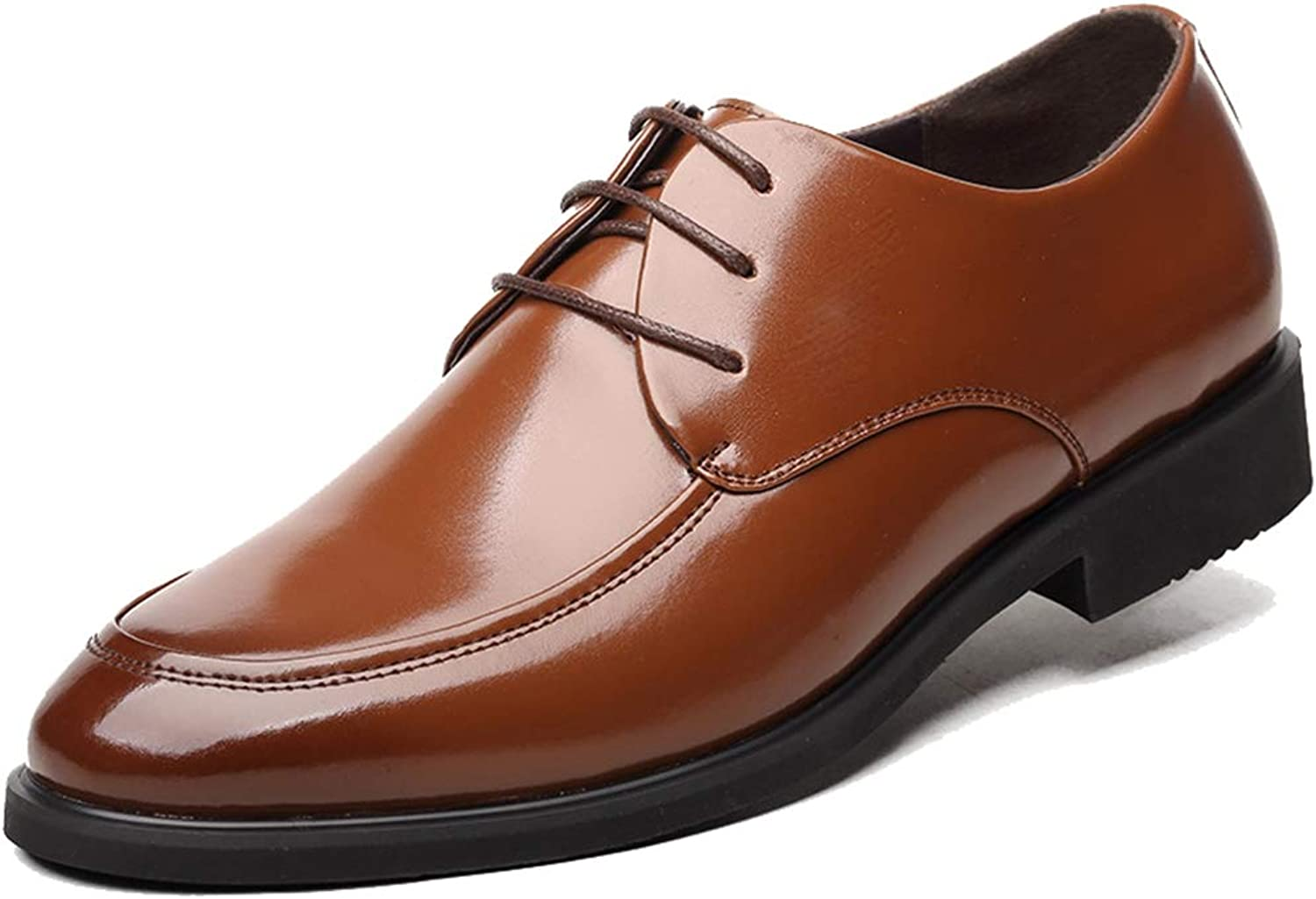Phil Betty Mens Oxford shoes Breathable Lace Up Fashion Business Casual Formal shoes
