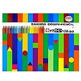 色鉛筆 クーピー 60色 缶ケース入り FY60