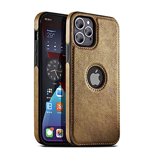 NN Compatible for iPhone 12 and iPhone 12 pro (6.1'') PU Leather case Luxury, Elegant and Antique Looks (Brown)