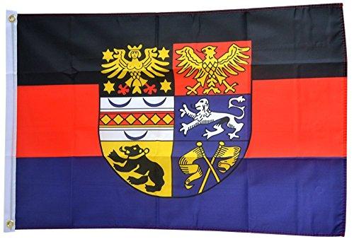 Flaggenfritze Fahne/Flagge Deutschland Ostfriesland - 150 x 250 cm + gratis Sticker, XXL-Fahne