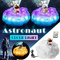 バレンタインデーのクリスマスプレゼントLEDカラフルな雲の宇宙飛行士の光、常夜灯としての虹の効果家の装飾 (花)