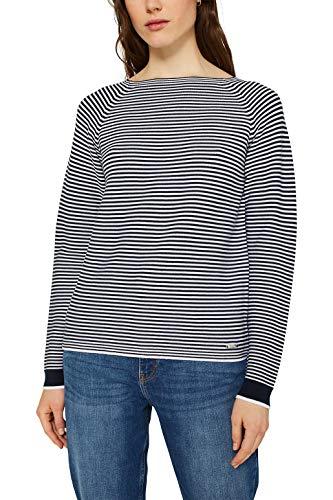 ESPRIT Damen 990EE1I301 Pullover, Blau (Navy 2 401), XL