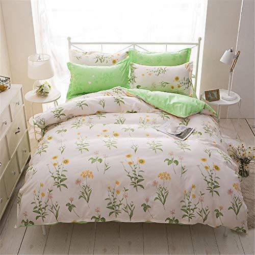 WHSS doble edredón ropa de cama impresión digital edredón cubierta dormitorio 4 piezas conjunto 2* funda de almohada 1* cama doble king tamaño edredón 1* ropa de cama