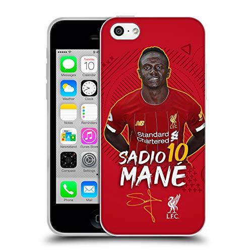 Head Case Designs Oficial Liverpool Football Club Sadio Mané 2019/20 Primer Equipo Grupo 1 Carcasa de Gel de Silicona Compatible con Apple iPhone 5c