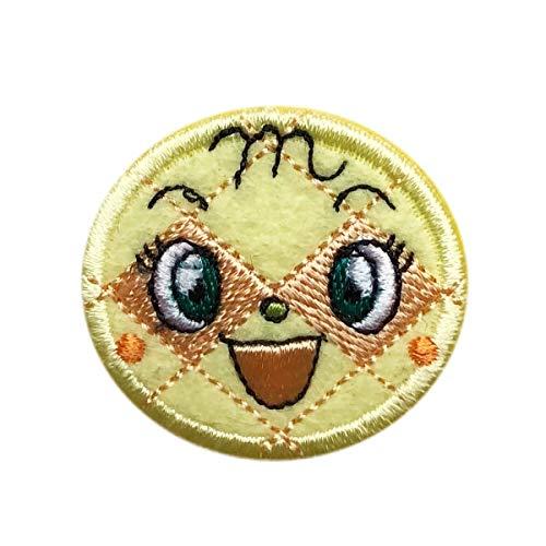 アンパンマン ワッペン ばいきんまん ドキンちゃん メロンパンナちゃん 刺繍 アイロン接着 キャラクター アップリケ 手芸 (メロンパンナちゃん)