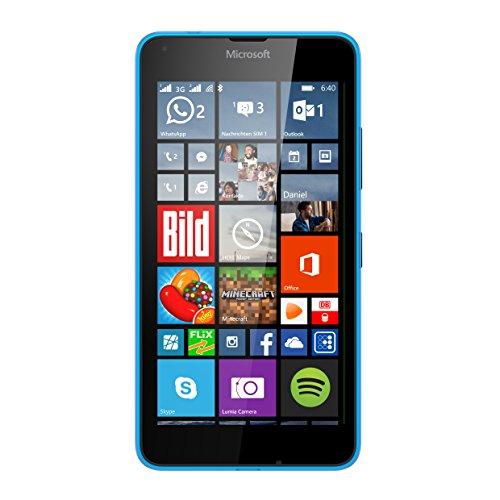 Microsoft Lumia 640 XL Dual-SIM Smartphone (5,7 Zoll (14,5 cm) Touch-Display, 8 GB Speicher, Windows 10) blau