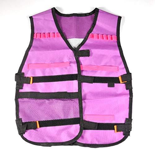 DAUERHAFT Regalos Juguetes Kit de Chaleco de élite Clips Regalos Juguetes Chaleco púrpura Ves para Nerf N-Strike para Pistolas de Espuma de Juguete o Arcos