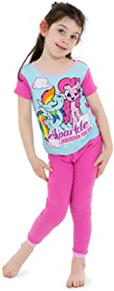 My Little Pony Girls' 4-Piece Cotton Pajama Set