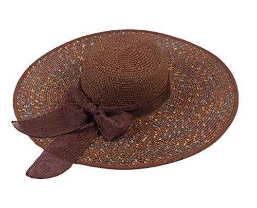 Blancho Bedding Brown Couleur Pliables pour Dames Chapeaux Chapeaux de Plage pour Voyage [A]