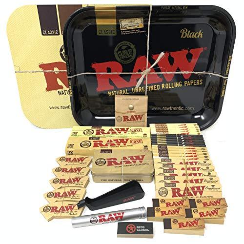 Reds Brand - Juego de bandejas RAW Black con Tapa Magnética