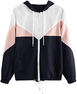 0c465b8ddad iYBUIA 2018 New Summer Women Long Sleeve Patchwork Thin Skinsuits Hooded  Zipper Pockets Sport Coat