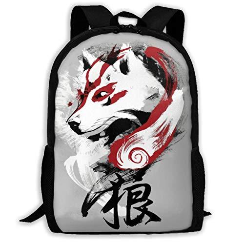 FGHJY High-Capacity Unisex Adult Backpack Wolf Bookbag Travel Bag Schoolbags Laptop Bag
