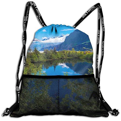 Ovilsm Turnbeutel Hipster Sporttaschen Alaska Landscape Drawstring Bag Sports Portable Backpack Shoulder Bags Gym Bag