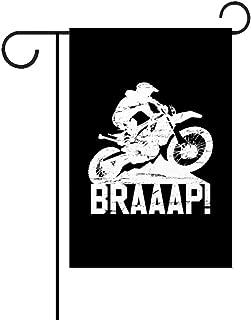 TangqianFlags Enduro Motocross Dirt Bike Braaap Garden Flag,Double Sided Premium Fabric,Outdoor Decoration Banner for Yard Lawn