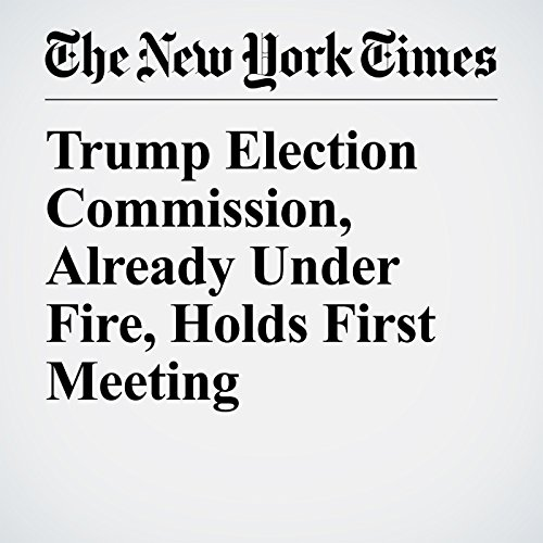 Trump Election Commission, Already Under Fire, Holds First Meeting copertina