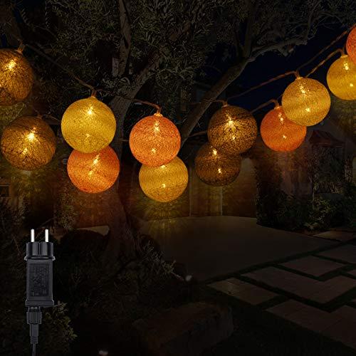 Cadena de luces DeepDream, 4,5 m, 20 bolas LED, cadena de luces para interior con conector para habitación infantil, dormitorio, boda, fiesta, festival (rosa)
