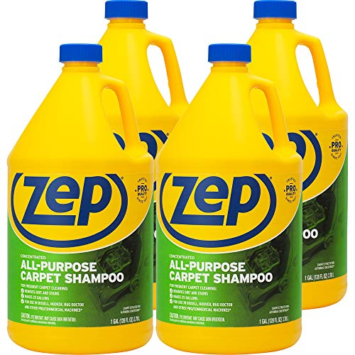 ZEP All-Purpose Carpet Shampoo Concentrate 128 ounce ZUCEC128 (Case of 4)