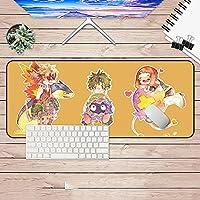 僕のヒーローアカデミアのマウスパッド、大型ゲームのアニメマウスパッド、滑り止めエッジ付きの防水滑り止めマウスパッド、PCに適しています-アニメ_800*400*3