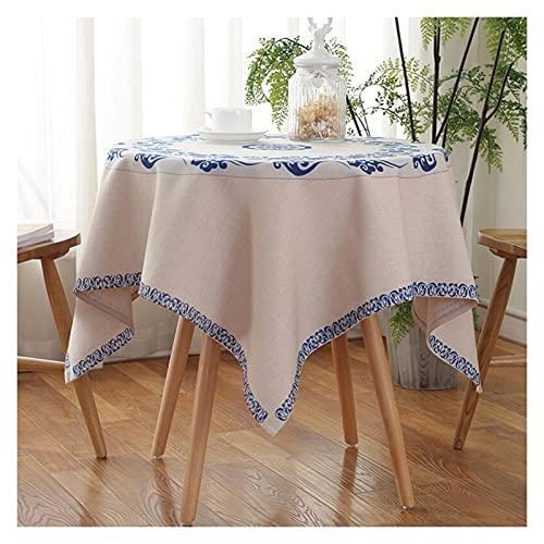 William 337 Tafelkleed, afwasbaar, vierkant, van katoen, waterdicht, tafelkleed, bescherming voor keuken, picknick binnenshuis, feest in de open lucht