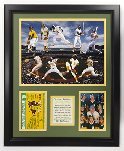 "Legends Never Die NBA Oakland Athletics All Time Greats Double Matted Photo Frame, 18"" x 22"""