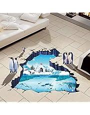 ملصقات جدارية مبتكرة ثلاثية الأبعاد، ملصق على شكل جليد القطبين لتزيين غرف النوم والمعيشة