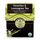 Buddha Teas Feverfew & Lemongrass Tea, 18 Count (Pack of 6)