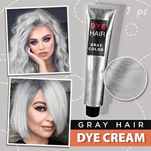 Hair Cream Fashion Permanente Punk-haarfärbemittel Hellgraue Silberfarbe Creme, 100 Ml Super Grey Dye Haarfarbe, Silber Haarfärbemittel Creme Haarfördernde Unisex Grey (1 pcs)