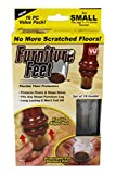 Furniture Feet FFS-MC12/4 7/8 in.- 1-1/4 in. Small Furniture Feet Flexible Floor Protect