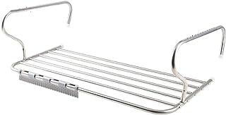Colgador de secado Estante de acero inoxidable Radiador Airer Toalla Ropa Ropa plegable Lavadora Airer Secadores Soporte de barra de 6 rieles para interiores o exteriores con clip para calcetines