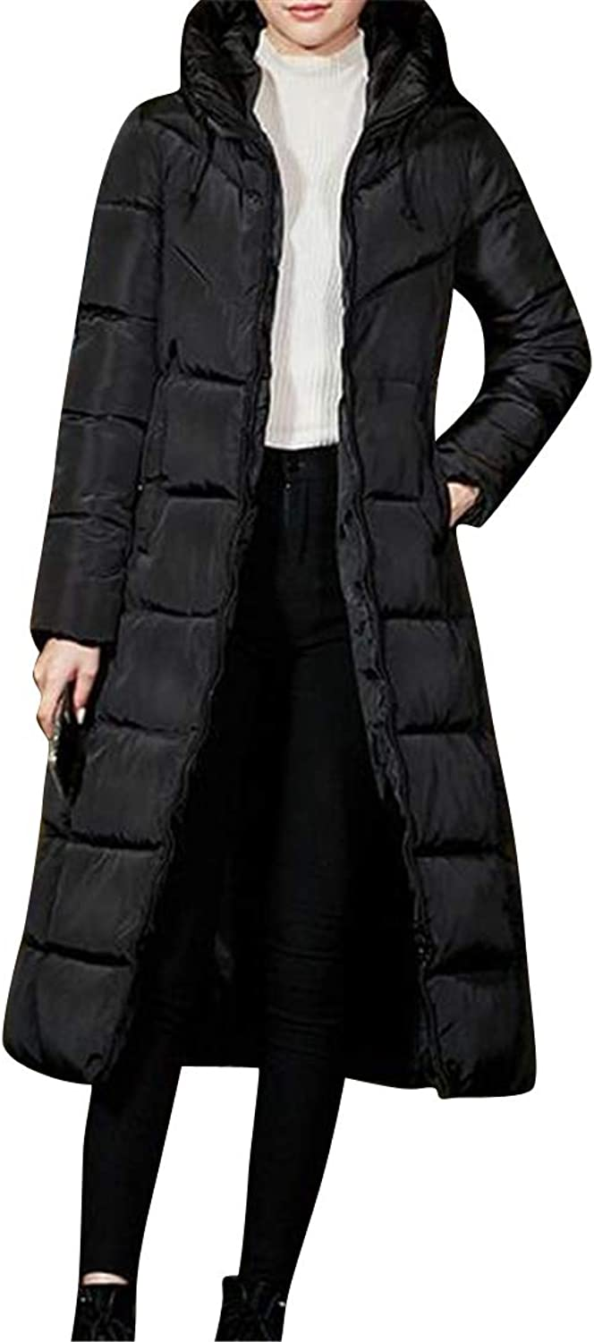 XTX Women's Winter Slim Long Thicker Hoodie Down Quilted Jacket Coat Parka