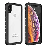 OUNNE iPhone Xs Max Waterproof Case, Underwater Full Sealed Cover Dustproof Snowproof Shockproof Phone Case for iPhone Xs Max (Clear)
