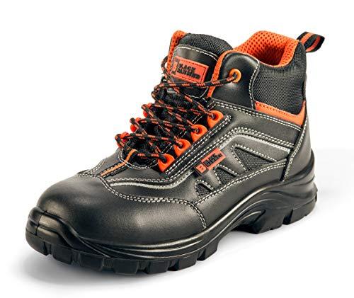 Botas para Hombre De Seguridad Puntera De Acero Zapatos De Trabajo Senderismo Plantilla De Protección Unisex-Adulto S1P SRC CE Aprobado Black Hammer 9952 Black Hammer (44 EU)