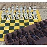 WUQIUYU Ajedrez Piezas Grandes de ajedrez Cuero Resina Piezas de ajedrez Tablero de ajedrez Modelado Regalo para Padres e Hijos