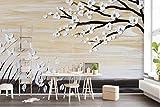 Papel Pintado 3D Hermosa Pintura Al Óleo Flores Ramas 3D Dormitorio Decorativos Murales Moderna Diseno 400x280cm