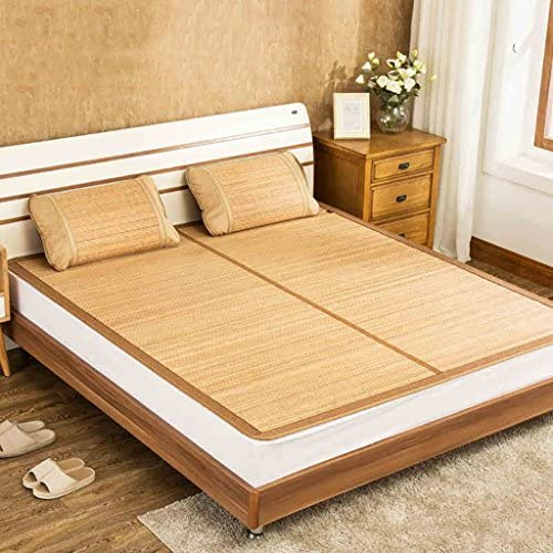 YXWzd Coole Bambusmatte Summer Collapsible Heat Dissipation Pad Eisschlafmatte Bett 0.8 0.9 1.0 1.2 1.5 1.8m (3.3 4 5 6 ft) (Größe   1.8m(6feet) Bed)