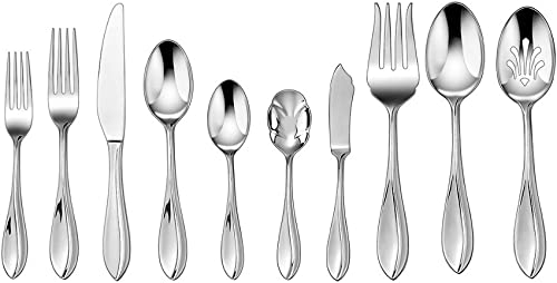 lowest Cuisinart wholesale Carbay 45-Piece Stainless Steel Flatware discount Set sale