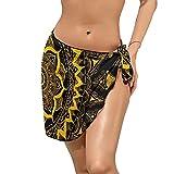 Mandala_Pattern_Abstraction Beach Wrap Sarong, sexy gasa playa cubierta para mujer bikini traje de baño de vacaciones playa medio pareo,