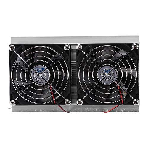 Regun Kit Sistema di Raffreddamento, 120W 12V 10A Dispositivo di Raffreddamento Dual-Core Sistema di refrigerazione a semiconduttore Fai-da-Te Attrezzatura di refrigerazione Dual-Core