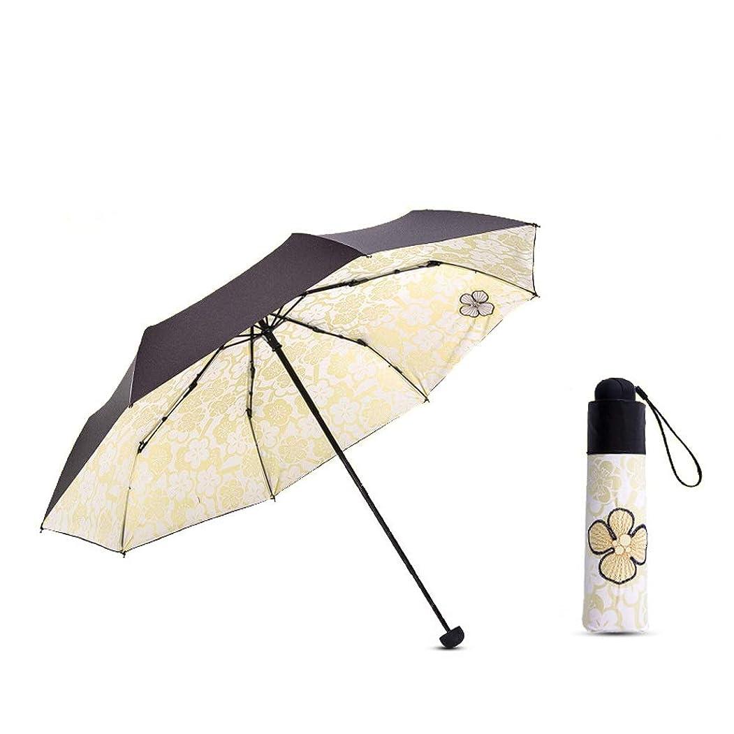 残りの面ではメタルライン傘 軽量 折りたたみ傘軽量レディースマニュアル撥水強力防風118 cm防風撥水 晴雨兼用 (Color : イエロー, Size : フリー)