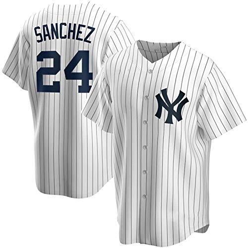 JMING Yankees #45 24#2 Jeter #99 Judge Uniforme De Béisbol para Hombre, Camiseta De Uniforme De Entrenamiento De Béisbol De élite, Manga Corta con Botón Superior De Béisbol (XXL,A14)