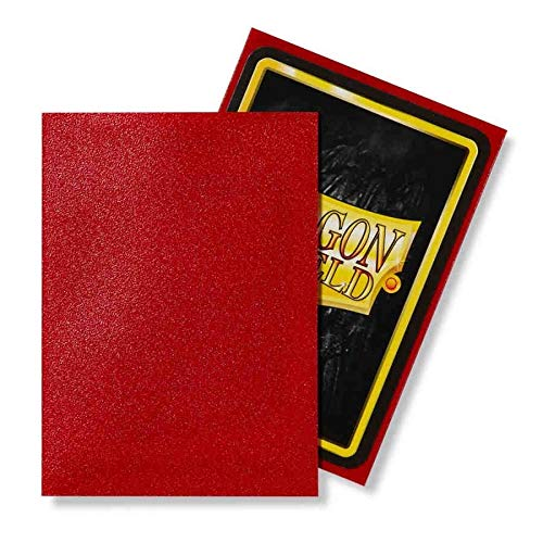 Dragon Shield 100 Count Standard Size Matte Deck Protector Sleeves (Matte Ruby)